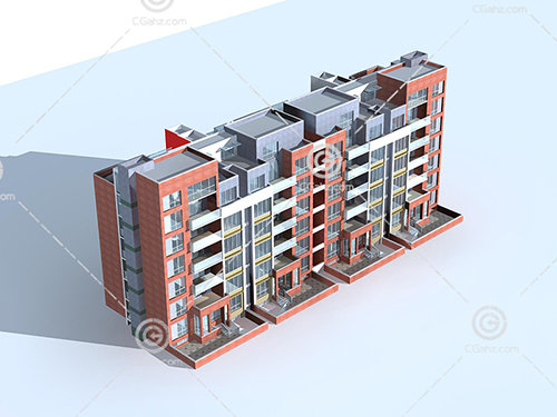 多层住宅楼3D模型下载