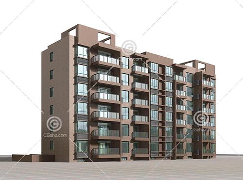 常见的多层住宅3D模型下载
