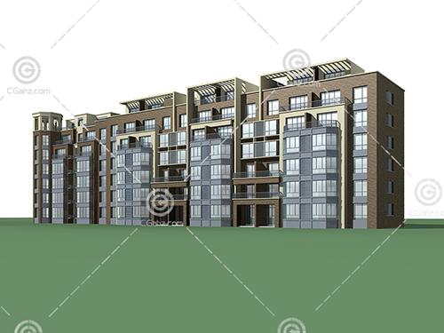 简单的多层住宅模型下载