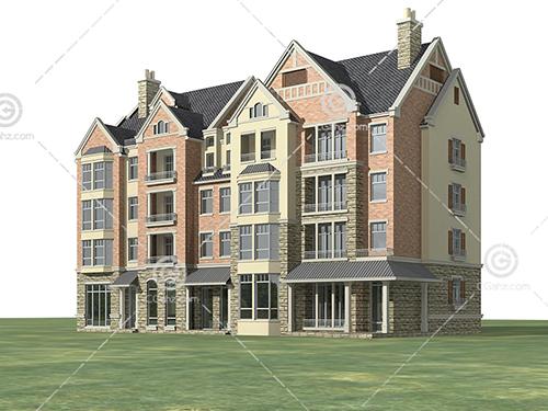 排式多层住宅3D模型下载