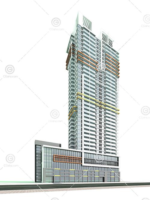 现代高层建筑3D模型下载