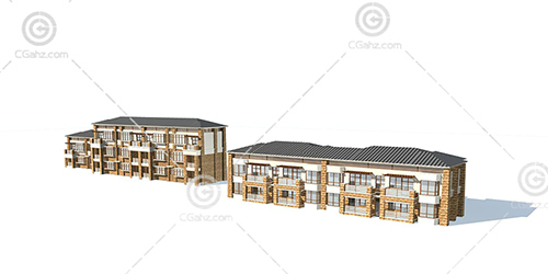 两栋多层住宅3D模型下载