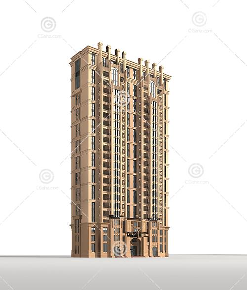 石材结构的高层住宅3D模型下载