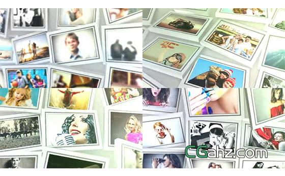可添加115张照片的大型相框图集AE模板