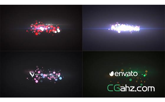 快速能量粒子标志开场特效AE模板