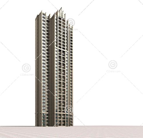 独栋高层住宅3D模型下载