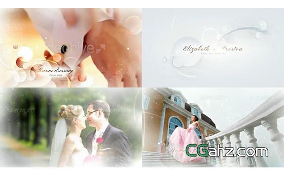 關于婚禮的美好記憶,婚禮微電影AE模板