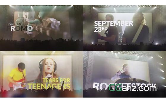 大型舞台活动或演唱会的宣传效果AE模板