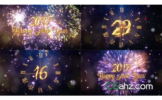 从30秒开始读秒的新年跨年倒计时开场AE模板