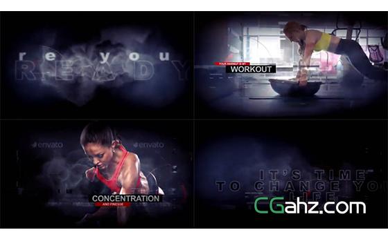 适合健身或其他体能运动的宣传预告片AE模板