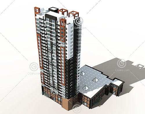 现代高层建筑模型下载