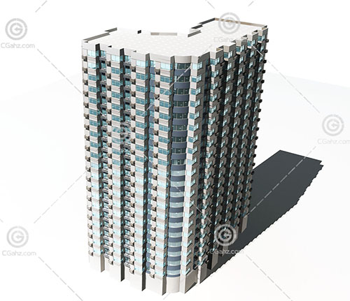 现代独栋高层建筑模型下载