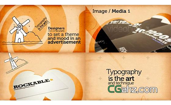 有趣的图文排版动画演示AE模板
