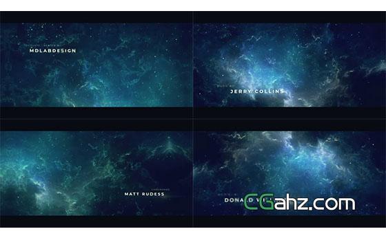 星空之上,浩瀚唯美的星空标题开场序列AE模板