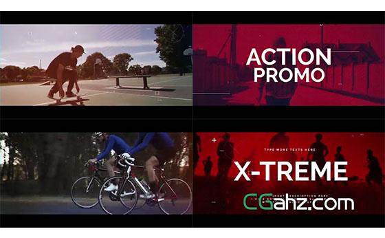 可用于极限运动或体育主题的动感宣传片AE模板