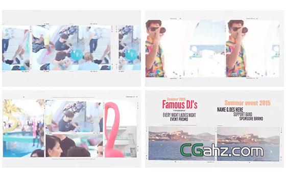 多样排版展示的活动宣传片AE模板