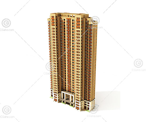 现代的高层住宅3D模型下载