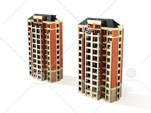简单的高层住宅模型下载