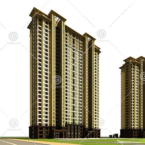 常见的现代高层住宅模型下载