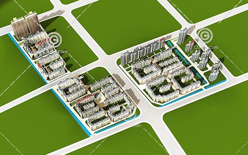 高层多层住宅组合小区3D模型下载