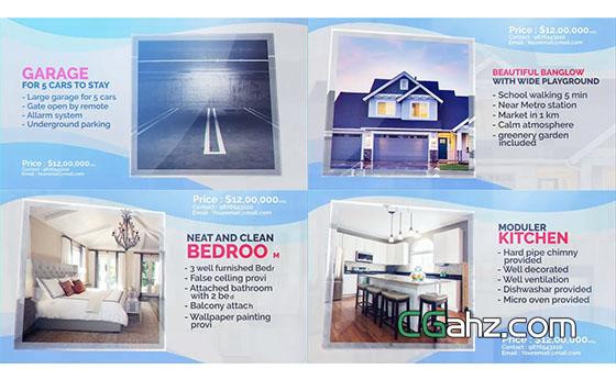 簡潔的房屋售賣或房地產廣告視頻AE模板
