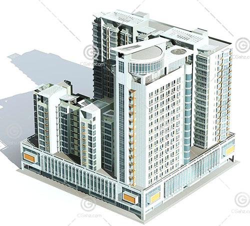 商业街高层住宅模型下载
