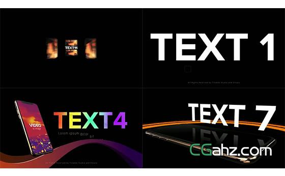 模拟iPhone Xs上的APP应用程序宣传广告AE模板