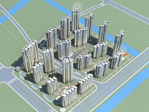 高层多层住宅小区模型下载