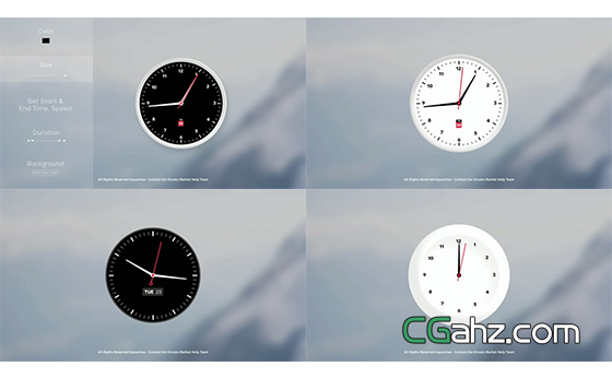 各式钟表动画的制作AE模板