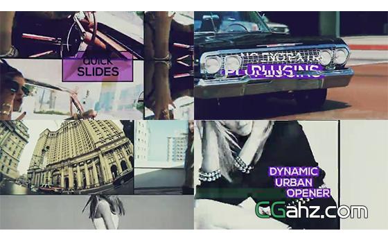 帅气的动态城市宣传片AE模板