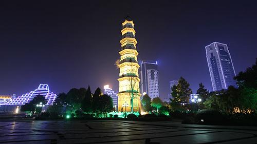 绍兴城市夜景视频素材