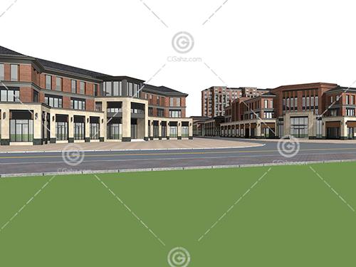 沿街多层住宅小区3D模型下载