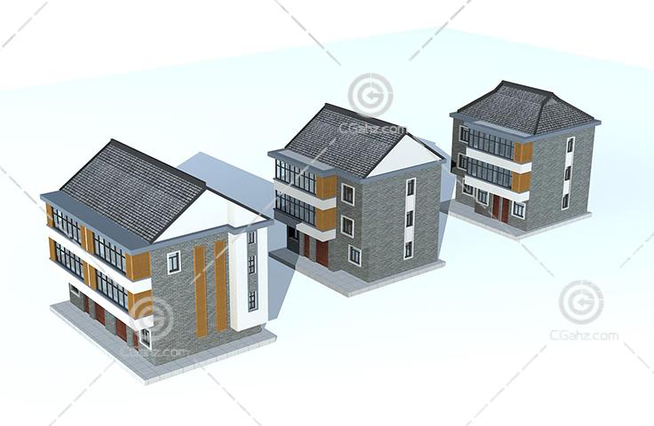 新中式的住宅3D模型下载