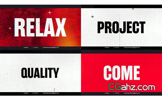 大文字标题的时尚排版展示片头AE模板