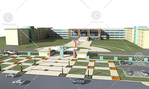 簡單的學校3D模型下載