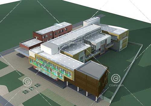 幼兒園教學樓3D模型下載