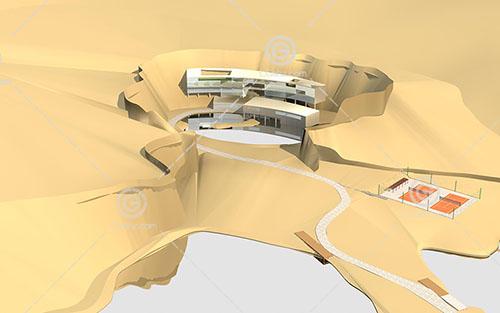 现代度假酒店3D模型下载