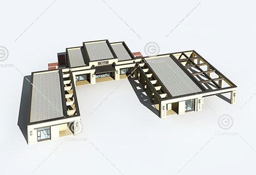 现代简单的酒店3D模型下载