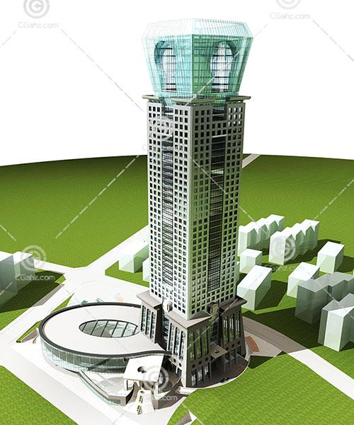 结构奇怪的大酒店3D模型下载