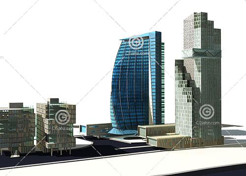 结构主义的大酒店3D模型下载