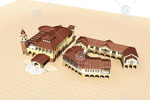 欧式酒店式公寓模型下载