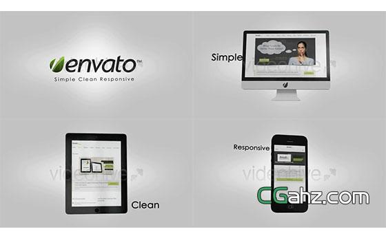 宣传网站或业务的一段简单片头AE模板