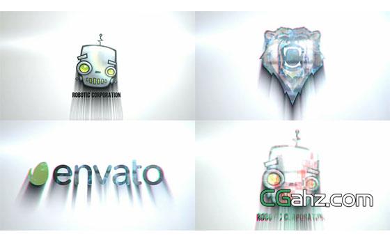表现科技感的快速标志入场动画AE模板