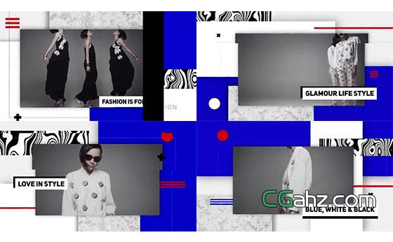 另类艺术感时尚演绎大片AE模板