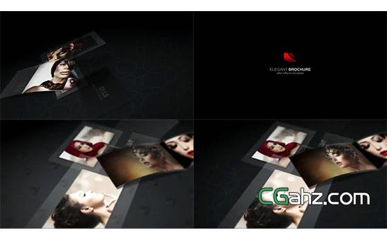 被翻开展示的优雅宣传手册AE模板
