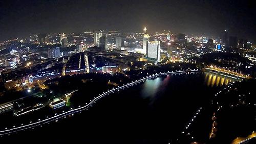 义乌夜景视频素材