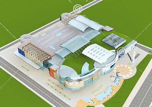 商业综合体3D模型下载