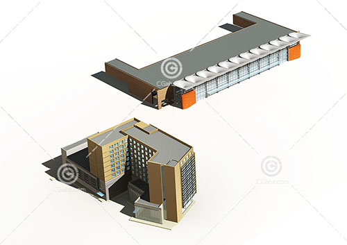 大型商场3D模型下载