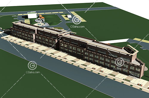 商业街3D模型下载
