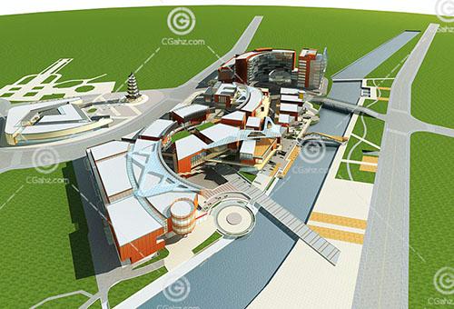 现代的大酒店3D模型下载
